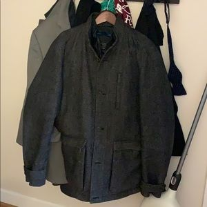 Ted baker zip and button layered coat